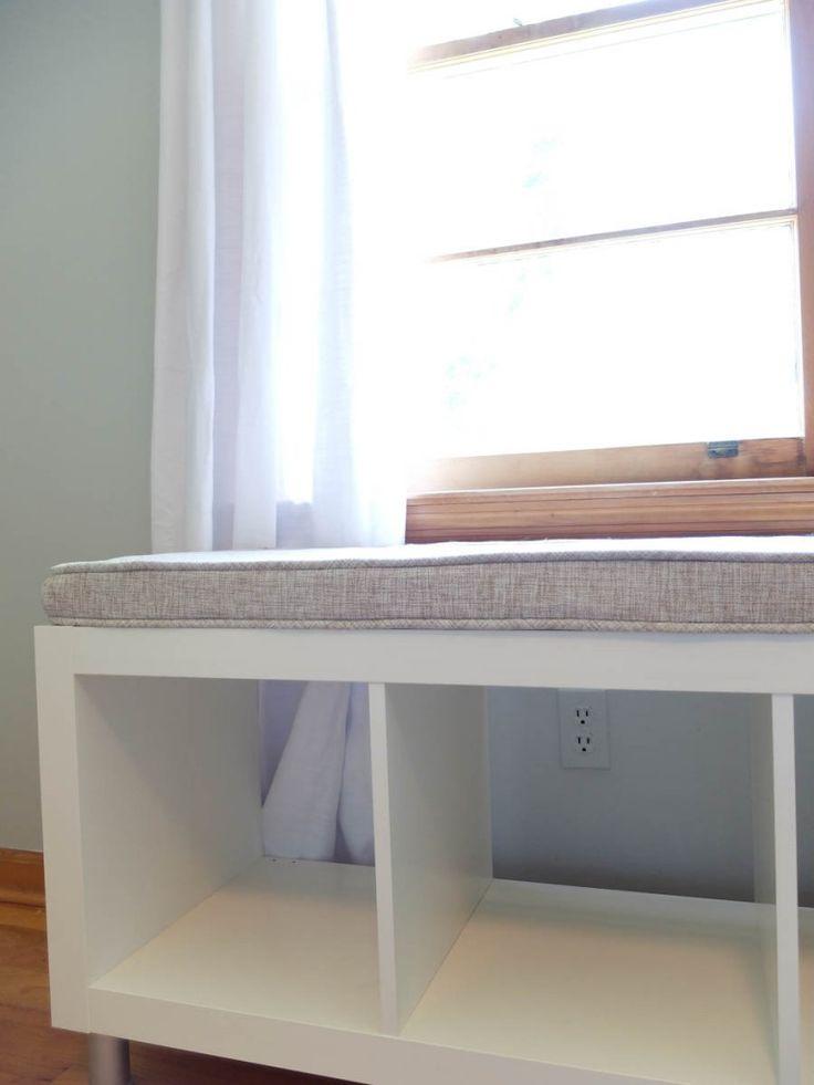 Best 25 bookshelf bench ideas on pinterest diy storage for Ikea expedit storage bench