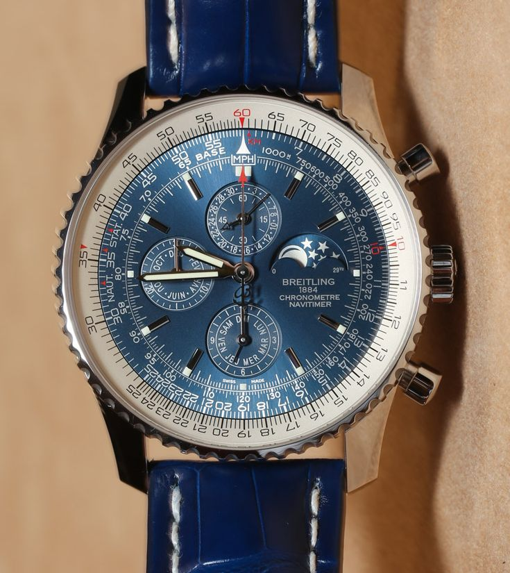 Breitling Navitimer 1461 Limited Edition Blue Watch Hands-On | aBlogtoWatch