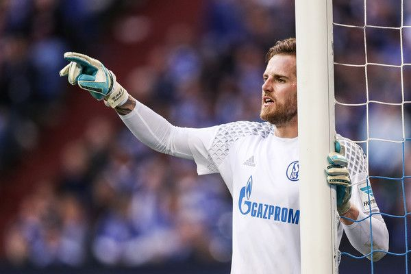 Ralf Faehrmann goalkeeper of Schalke reacts during the Bundesliga match between FC Schalke 04 and FC Augsburg at Veltins-Arena on March 12, 2017 in Gelsenkirchen, Germany.