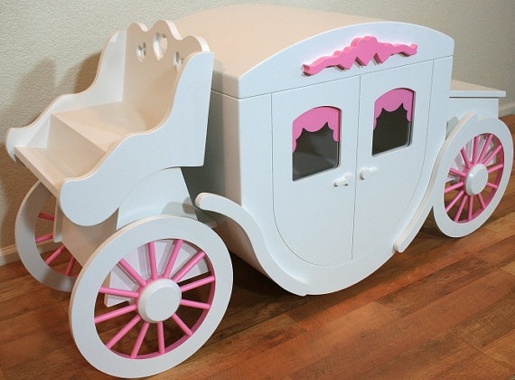 Too bad this is so dang expensive. Princess Toy Box Hope Chest Decorative by QualityBenchMade on Etsy, $4685.95