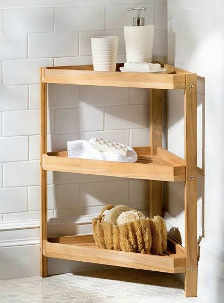 14 Brilliant Storage Ideas For Small Spaces Teak Corner Stand