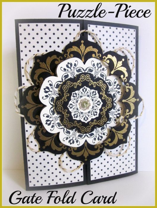 Stampin Up!, Gate Fold, Floral Framelits, Daydream Medallions, stamping, handmade cards...  Awesome card!