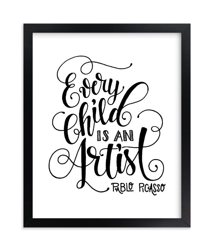 """""""Child Artist"""" - Limited Edition Art Print by Pinch Me Moments in beautiful frame options and a variety of sizes."""