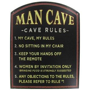 Open Road Brands Man Cave Rules Tin Sign   Shop Hobby Lobby