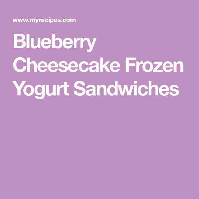 Blueberry Cheesecake Frozen Yogurt Sandwiches