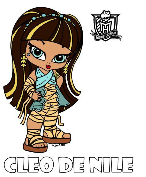 baby monster high coloring pages - Monster High Chibi Coloring Pages