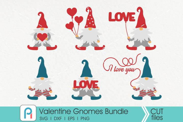 Download Valentine Gnomes Svg, Gnome Svg, Gnome Vectors | Creative ...