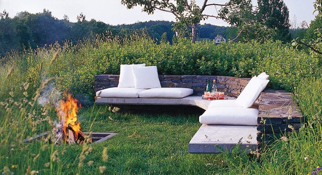 seating and firepit