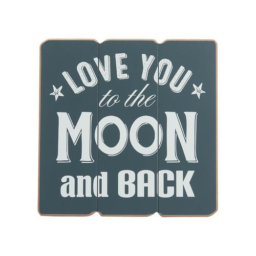 """Love You To the Moon and Back Table Sign, 8"""" x 8"""""""