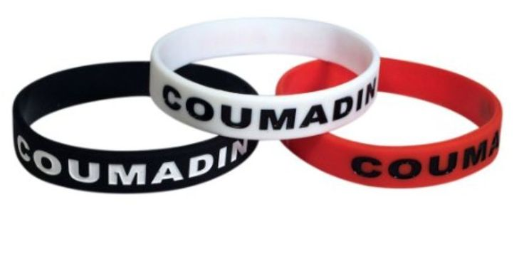 Coumadin ID Bracelet Silicone Medical Alert Blood Thinner Warfarin(Set of 3) #FirstChoiceEssentials