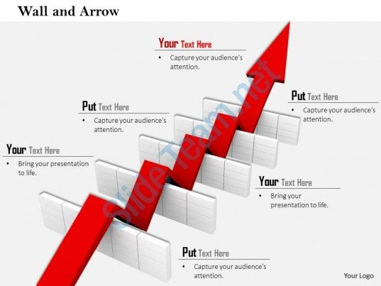 0814 red arrow passing over the multiple hurdles image graphics for powerpoint Slide01