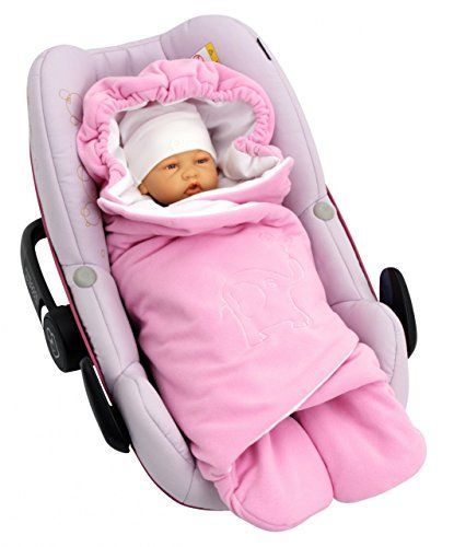 From 35.90 Byboom - Swaddling Wrap Car Seat And Pram Blanket For Spring Summer And Autumn/fall Universal For Infant And Child Car Seats Eg; Maxi-cosi Britax For A Pushchair/stroller Buggy Or Baby Bed Color:pink/white #infantcarseatandstroller