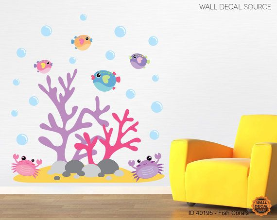 Coral Reef Nursery Fish Wall Decal Under Water Di WallDecalSource, $45.00 Part 98