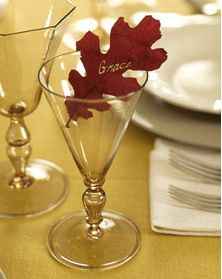 Dried Leaf Place Cards