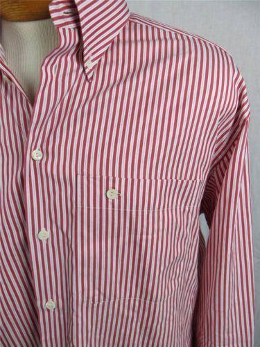 Eton Men S Dress Shirt Size 17 189 Red And White Stripe