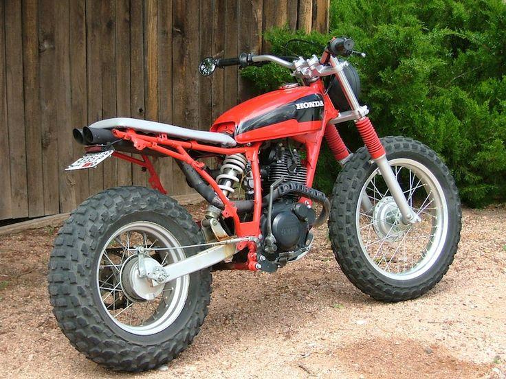 Gotta love a good TW200 custom!