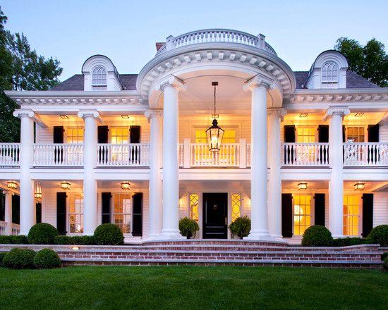Southern antebellum style architecture mini whitehouse for Southern architectural styles
