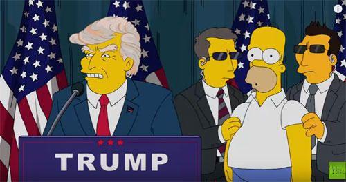 当時はおかしくなっていくアメリカを表現トランプ氏の大統領就任をザシンプソンズが16年前に予知!?