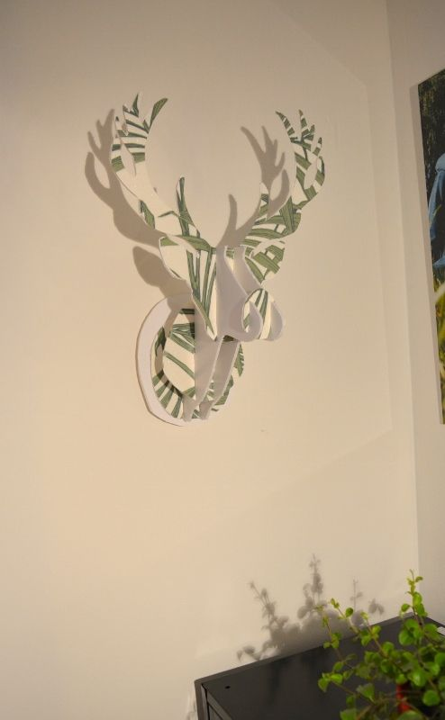 DIY : Tête de cerf en carton personnalisable