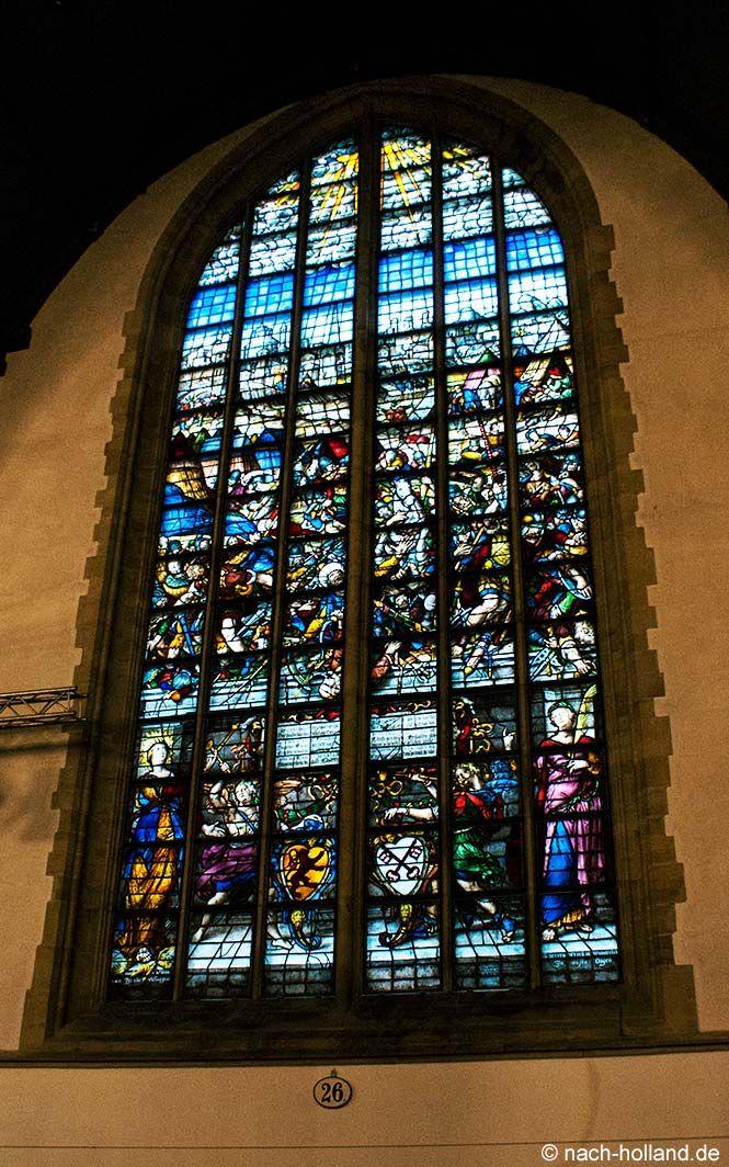Die Belagerung von Samaria, gemalt auf Glasfenstern von 1601 in der Sint Janskerk in #Gouda