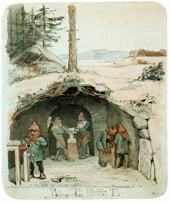 johan thomas lundbye   bjergfolk working by johan thomas lundbye 1854 link