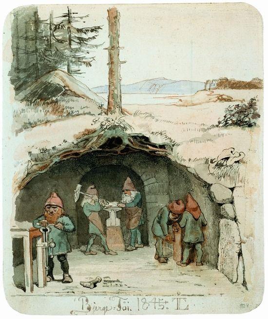 johan thomas lundbye | bjergfolk working by johan thomas lundbye 1854 link