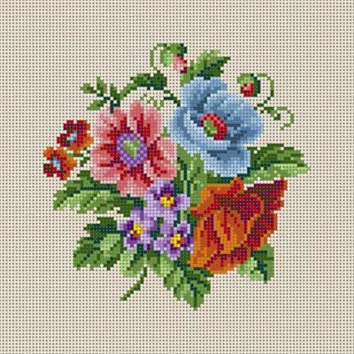 Summer Floral cross stitch pattern