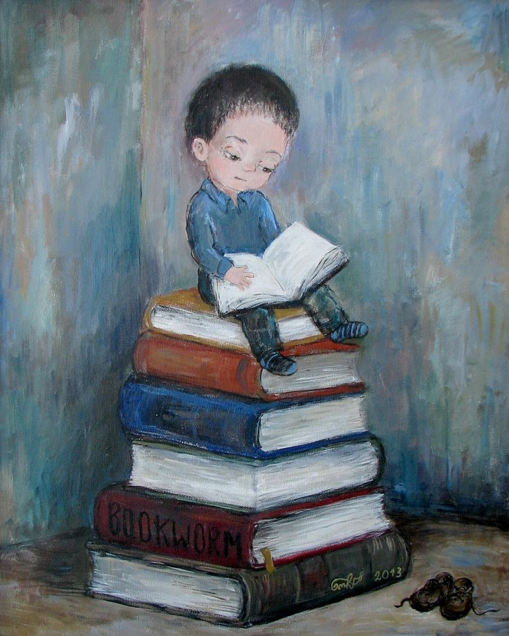 Bookworm ~ Nino Chakvetadze Art