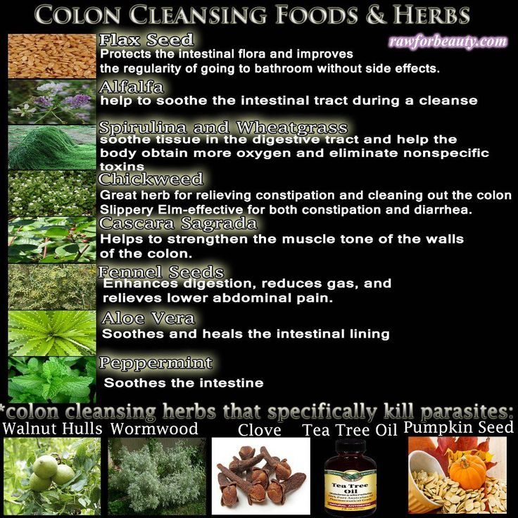 Colon Cleansing Foods & Herbs