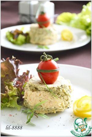 Суфле из семги со шпинатом и творожным сыром
