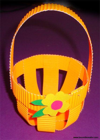 children's easter craft Basket H