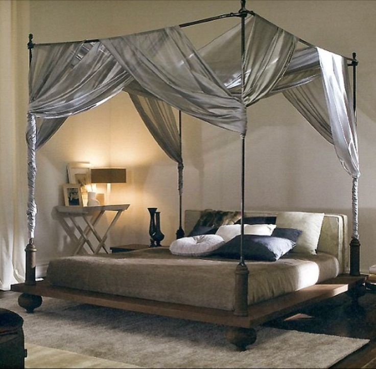 249 best ideas about bedroom collections on pinterest - Canopy bed ideas for adults ...