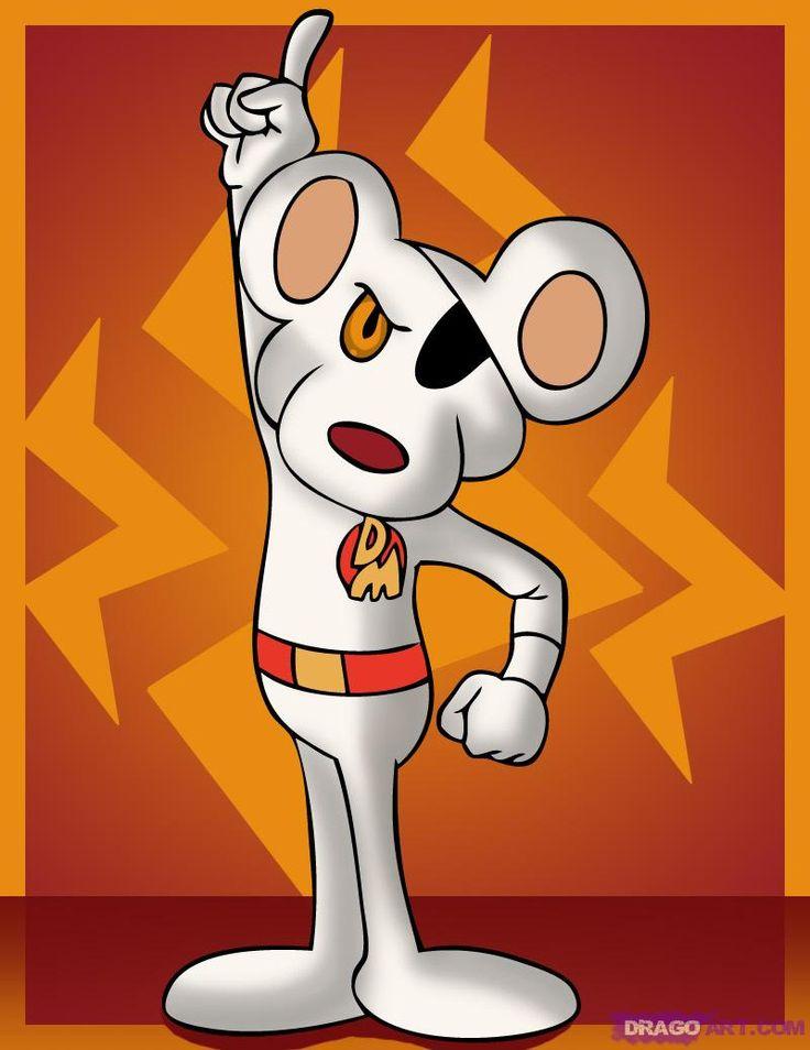 Danger Mouse en VO - Dare Dare Motus en VF (il fallait un nom avec un D et un M en français...) - je kiffe le générique français.