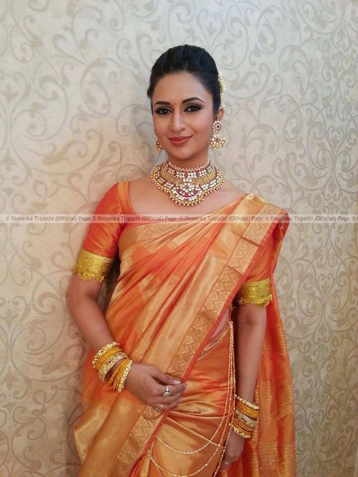 Divyanka Tripathi in Silk Saree