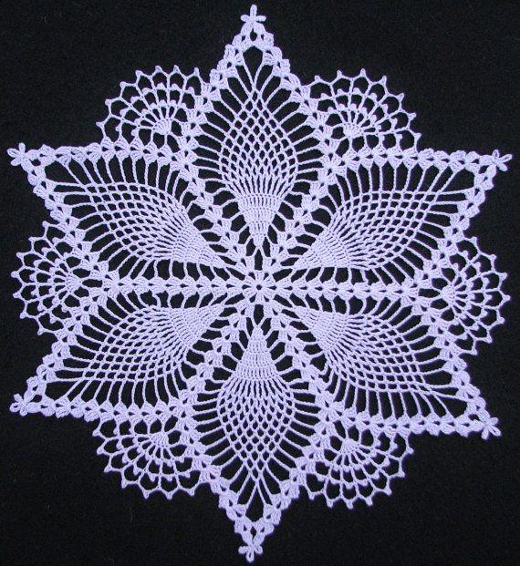 Copo de nieve de piña tapetito de ganchillo por crochethuahua                                                                                                                                                      Más