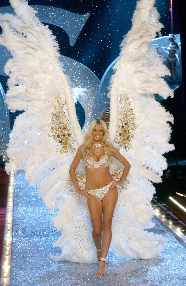 Pin for Later: 14 Facts You Never Knew About Victoria's Secret Wingspan In 2003, Heidi Klum walked the runway with the largest set of wings on record. They were a whopping 12 feet high!