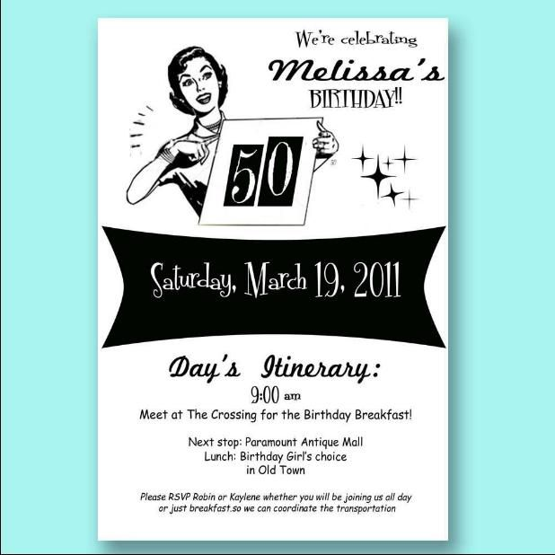 Th Birthday Invitations Templates Free Retro Clipart Etc - Retro birthday invitation template