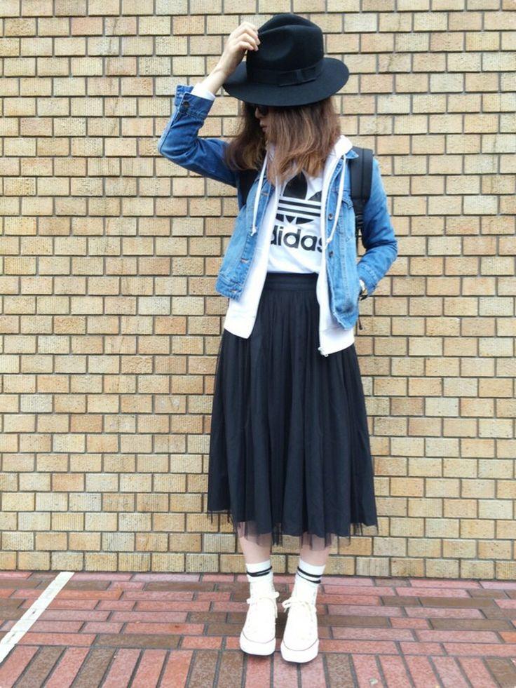 T☻Mさんのハット「ROSE BUD (HATS & DREAMS)43445/102 FELT HAT」を使ったコーディネート