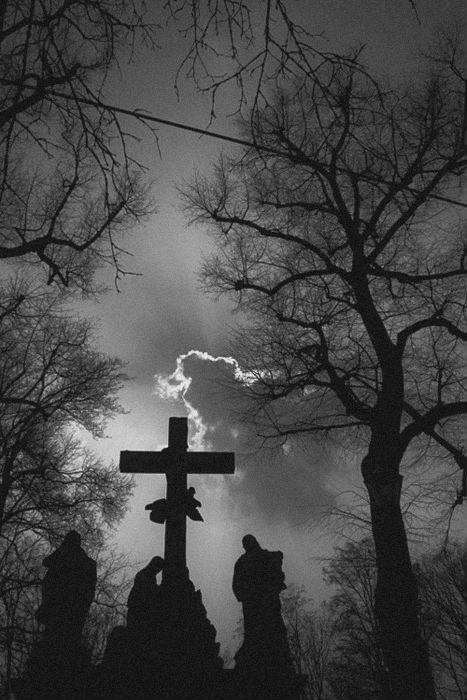 #cemetery #cross #clouds