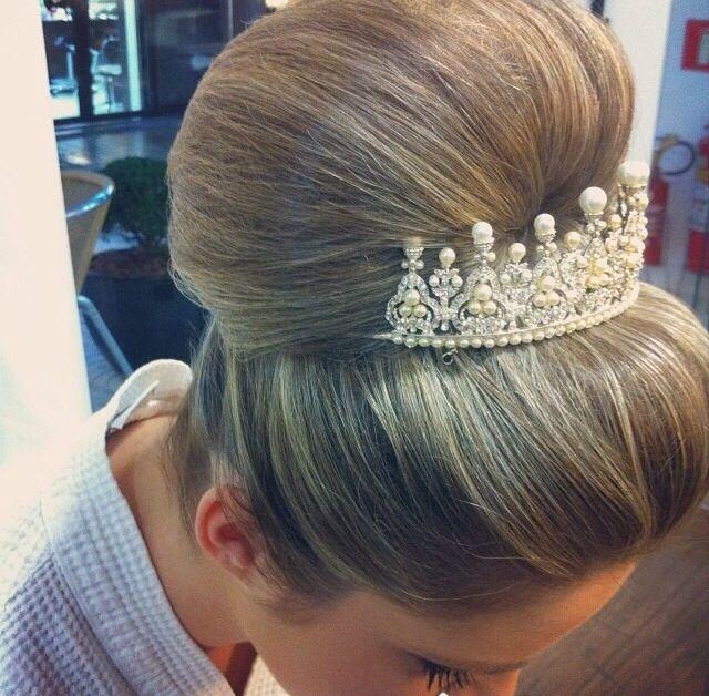 Coque tiara noiva wedding Hair