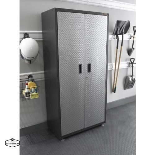 garage floor cabinet storage shelf lock shed metal tall tool box organizer steel