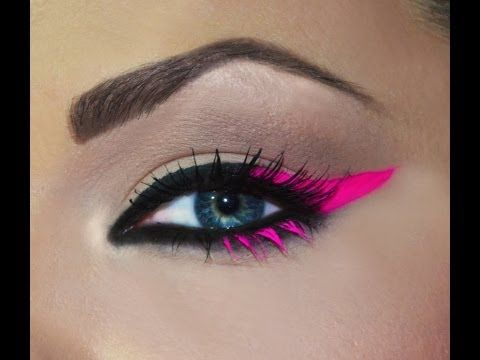 Pink Neon Eyeliner / Eyeliner Rosa Neon - YouTube @thetropicalmakeup SOOO creative!! Love it!