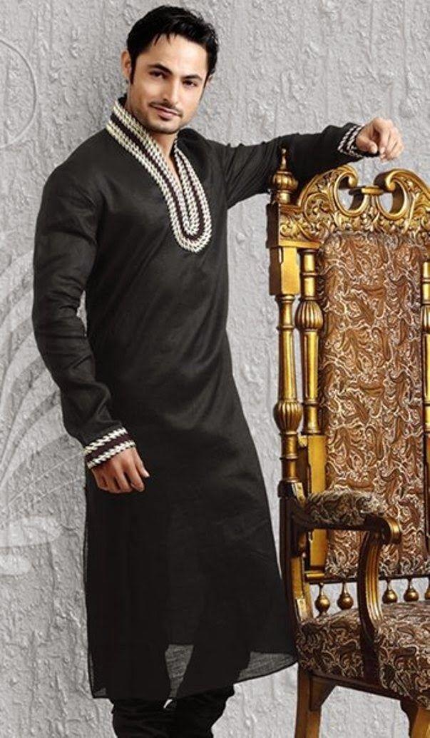 Latest Men Kurta Designs   Men Kurta Collection 2014 for Summer Season
