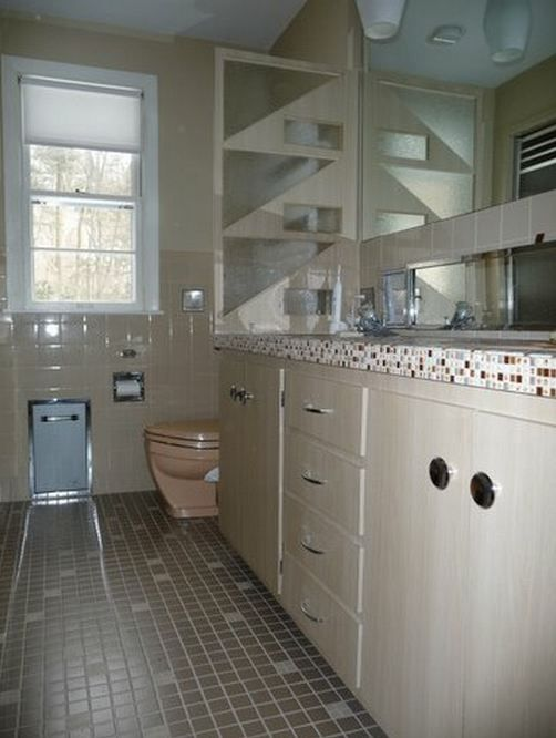 Built in bathroom scale that folds down - among the three most ...