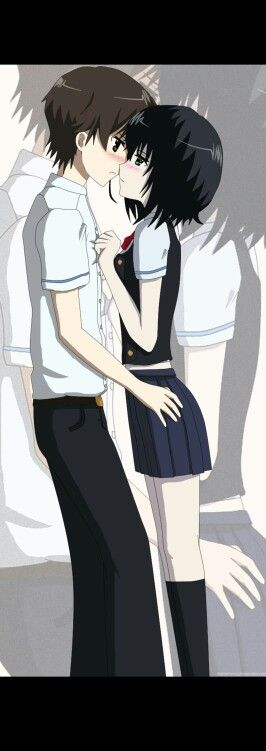 17 Best images about Another on Pinterest   Chibi ... Another Kouichi And Misaki