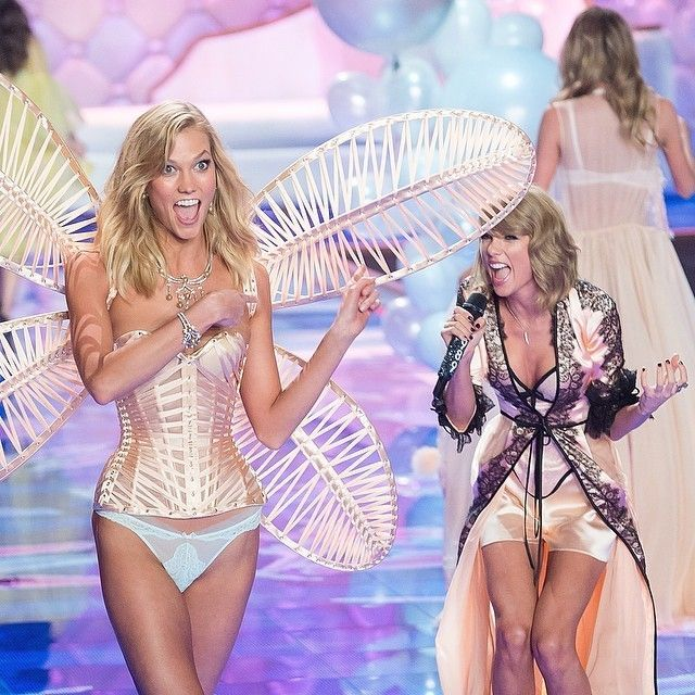 Karlie Kloss and Taylor Swift Victoria's Secret 2014 show