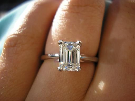 I think a 2 ct would be better for this. 1ct seems slightly small for it Emerald Cut, 1 Carat, VVS2, G