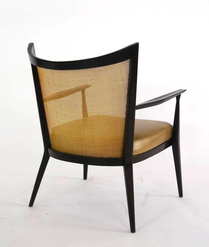 Paul McCobb; Lacquered Wood and Cane Lounge Chair for Directional, 1950s.