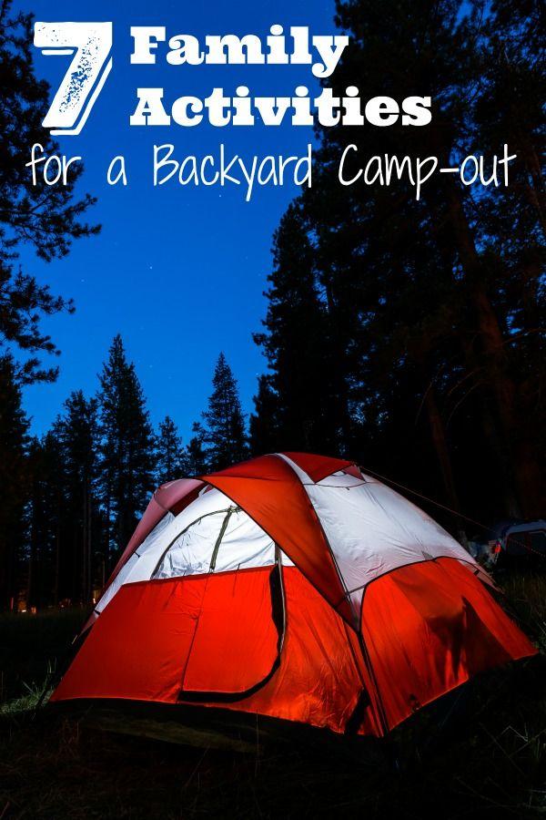 backyard camping activities