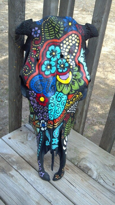 106 Best Images About Cowskull Painting My New Hobbie On